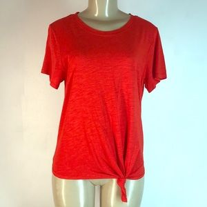 Sanctuary Perfect Knot Tee Tulip Red Small